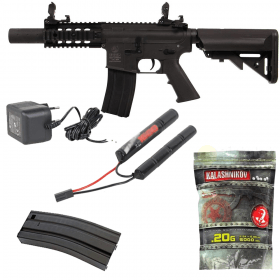 Pack Colt M4 Special Force Mini Noir 180862 Cybergun Nylon CQB