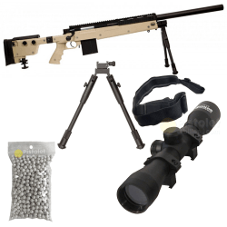 Pack Swiss Arms S.A.S 06 TAN Sniper style L96 280737 Cybergun 1.9 joules