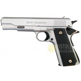 Plan Beta Pistolet 1911 Tradition Silver Spring 0.3 Joules