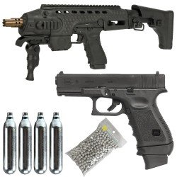 Pack GLOCK 19 gen 3 et Kit APS Caribe Cybergun CO2 6mm 340511