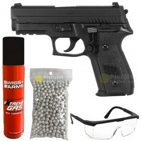 Pack KP02 - P229 KJW Gaz full métal KJW Blowback