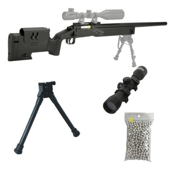 Pack M62 Sniper Double Eagle Style M40a3 1.9 Joules