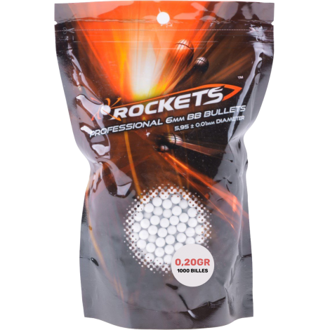 Rockets™ Professionnal 6mm BB Bullets - www.pistolet-a-billes.com