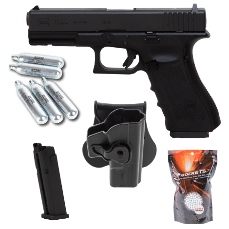 Pack Glock G17 Gen 4 Co2 Blowback - Cybergun® - www.pistolet-a-billes.com