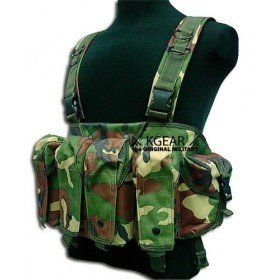 Gilet tactique Chest Rig woodland