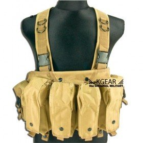 Gilet tactique Chest Rig couleur tan