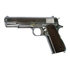 M1911 We gaz chromé full métal