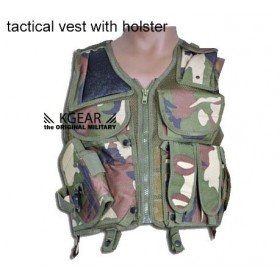 Gilet tactique camouflage avec holster