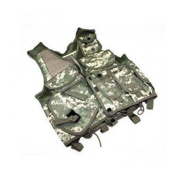 Gilet tactique digital camouflage avec holster