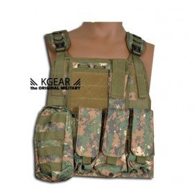 Gilet tactique modulable type ciras kgear digital woodland