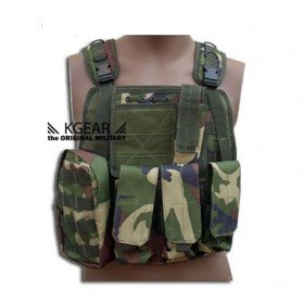 Gilet tactique modulable type ciras kgear woodland