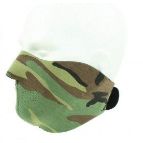 Demi masque neoprene souple woodland