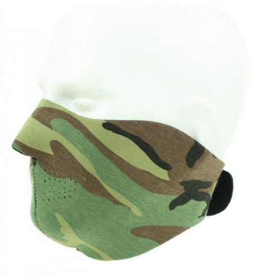 Demi masque neoprene Woodland militaire airsoft anti vent anti froid