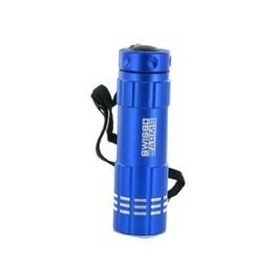 Lampe 9 leds flashlight coque bleue