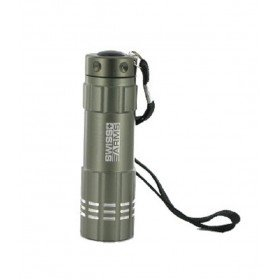 Lampe 9 leds flashlight coque grise