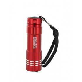 Lampe 9 leds flashlight coque rouge