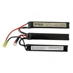 Batterie lipo 11.1 v 1500 Mah 8fields triple