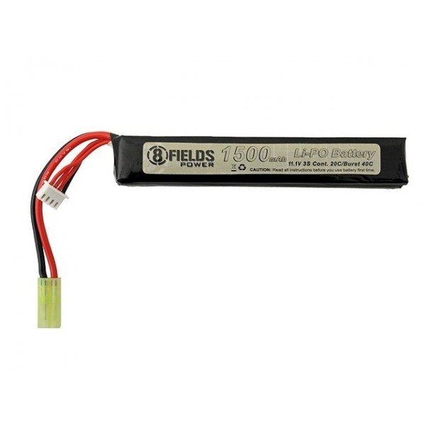 Batterie lipo 11.1 v 1500 Mah 8fields stick