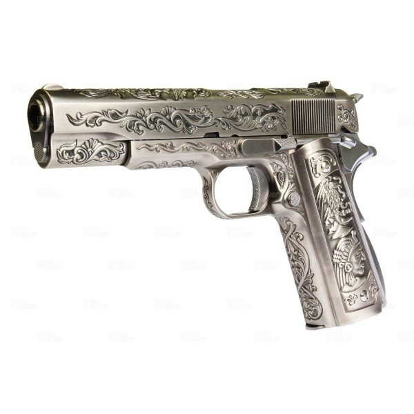 M1911 gaz chromé full métal version custom We