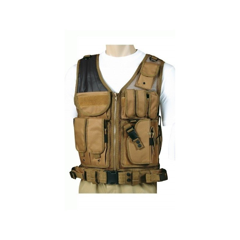 achat gilet tactique tan avec ceinture dmoniac airsoft pas cher. Black Bedroom Furniture Sets. Home Design Ideas