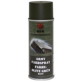 Peinture Armée Olive Mate spéciale camouflage airsoft 400ml 27375e
