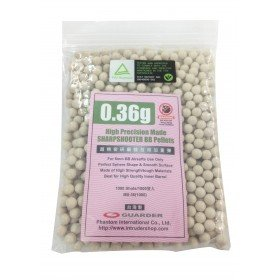 1000 Billes Guarder 0.36gr  blanches