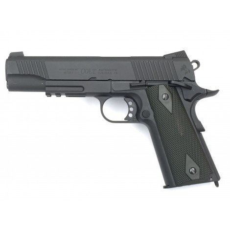Colt 1911 Rail Gun Blackened Co2