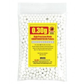 1000 Billes Guarder 0.30gr blanches