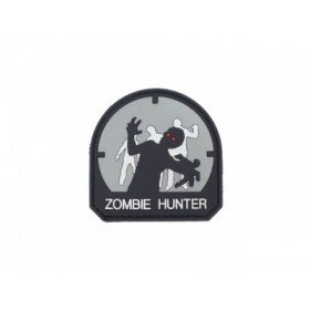 Patch PVC 3D Zombie Hunter Gris sombre Emerson