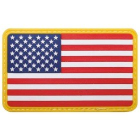 Patch PVC 3D Drapeau USA MFH