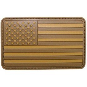 Patch PVC 3D Drapeau USA TAN MFH