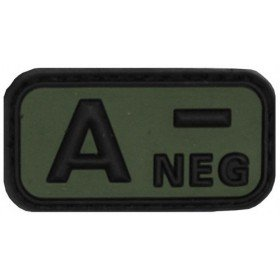 Patch PVC 3D A- Neg OD MFH