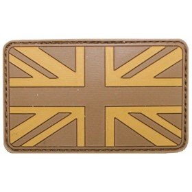 Patch PVC 3D Drapeau UK TAN MFH