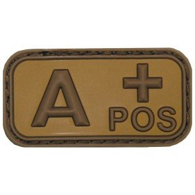 Patch PVC 3D A+ Pos TAN MFH