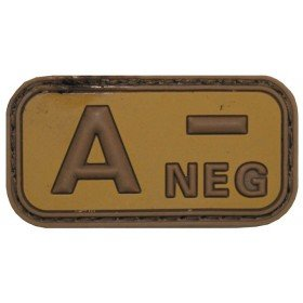 Patch PVC 3D A- Neg TAN MFH