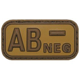Patch PVC 3D AB- Neg TAN MFH