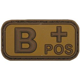 Patch PVC 3D B+ Pos TAN MFH