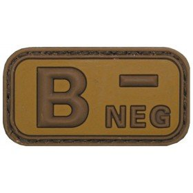 Patch PVC 3D B- Neg TAN MFH