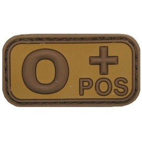 Patch PVC 3D O+ Pos TAN MFH