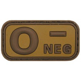 Patch PVC 3D O- Neg TAN MFH