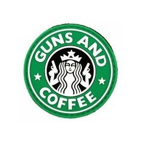Patch PVC 3D Gun and Coffee