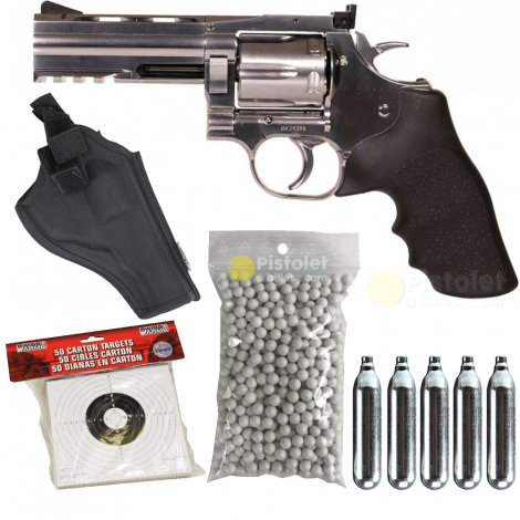 Pack Dan Wesson 715 4 Pouces Chrome ASG Co2